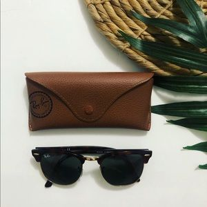 Ray-Ban Clubmaster in Dark Tortoise Sunglasses